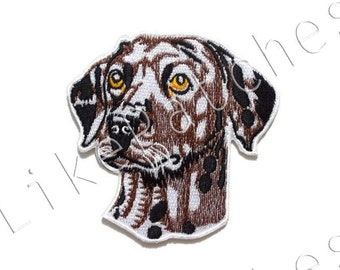 Dalmatian Dog - Sew / Iron On Patch Embroidered Applique Size 8.5cm.x8.5cm.