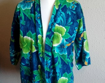Vintage Hawaiian Swimsuit cover up beach cover up 60s 1960s UK shop