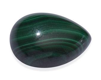 African Malachite Pear Cabochon Loose Gemstone 1A Quality 14x10mm TGW 7.50 cts.