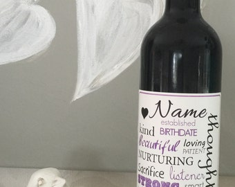 Personalized Wine Bottle Label / Gift for a Special Occasion