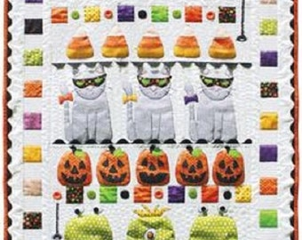 Happy Halloween Quilt Kit including Pre-cuts by Stitches of Love Quilting
