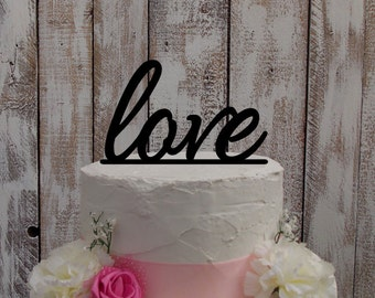 "Wedding Cake Topper ""Love"""