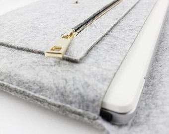 Zipper Felt Macbook 15 pro retina sleeve, Macbook 15 pro retina case, 15'' macbook sleeve, laptop sleeve, laptop case, macbook sleeve 028LG