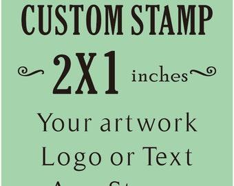 Custom Stamp, Custom Logo Stamp, Wedding Stamp, Business Card Stamp,custom return address stamp, Craft 2x1inches