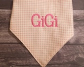 FREE SHIPPING! Dog Bandana, Pet clothing, Personalized dog bandana, Monogrammed Gift for animal, Dog outfit,  pet accessory