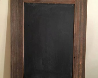Chalkboard with bard wood frame and shelf