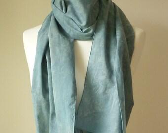 Medium blue indigo stoneware cotton scarf