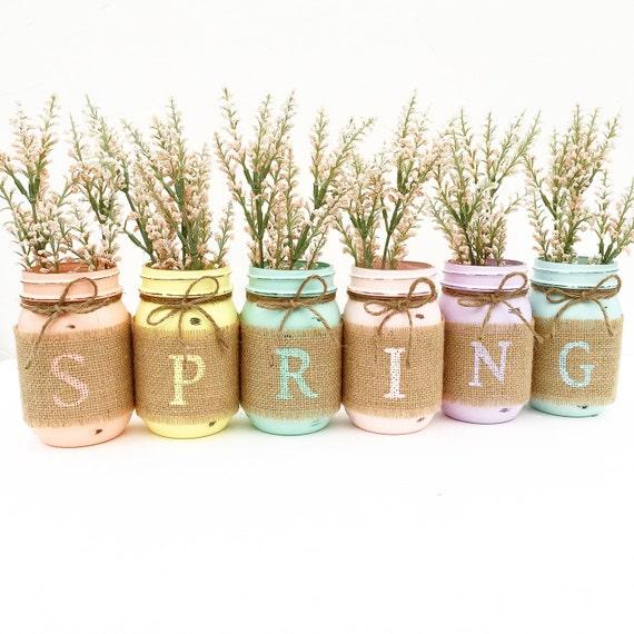 Spring Mason Jars Decor Easter