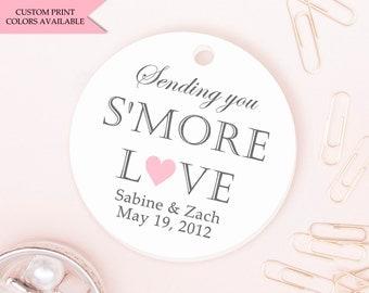 Smore tags (30) - Smore love tags - Smore wedding favors - Wedding favor tag - Wedding tags - Sending you smore love tags