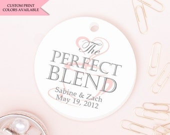 The perfect blend tags (30) - Wedding favor tags - Coffee tags - Wedding gift tags - Wedding tags