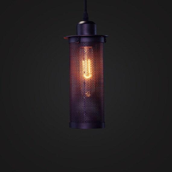 acier luminaire cage cage lampe plafonnier suspension. Black Bedroom Furniture Sets. Home Design Ideas