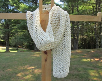 Hand Knit Wool Scarf