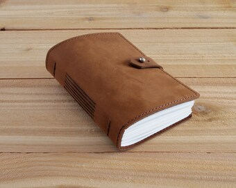 Warner - 4X6 Brown, Handmade Leather Journal