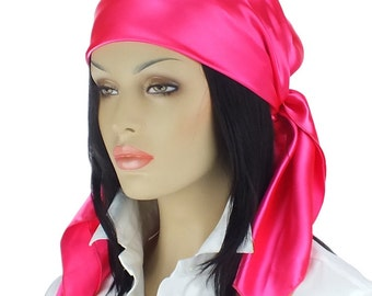 Large Satin Scarf Available in 14 Solid Colors - Satin Head Scarf- Gifts for Her - Christmas Gifts- Hair Accessories
