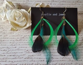 Feather Dangles Green