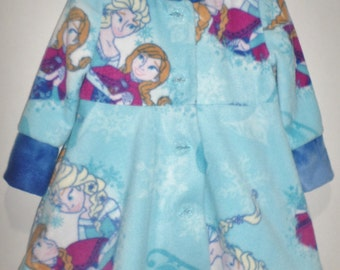 Girls Fleece Frozen Jacket Coat Sisters Elsa and Anna Fully Lined Hooded Jacket Princess Boutique! Winter Warm Cozy