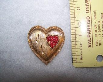 Valentines' Heart Brooch/Pin