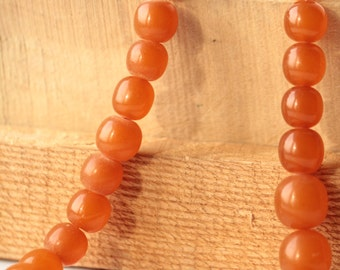 BEADS for Ladies Necklace Antique Baltic Amber Honey Pressed 67.2g Jewellery ж
