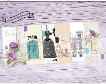 """Dividers """"Paris"""" for A5, Happy planner, personal and pocket size planners"""