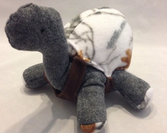 Camo stuffed turtle, grey and white camo turtle,turtle toy,gift