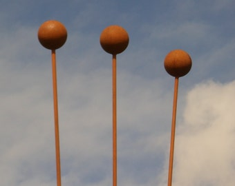 Boule plant stake. Pack of three.