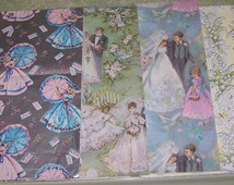 Vintage wedding gift wrap wrapping paper Hallmark