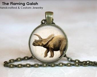 DINOSAUR Pendant •  Triceratops •  Gift Under 20 • Made in Australia (P1140)