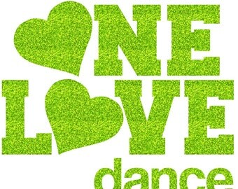 One Love Dance Iron On Decal