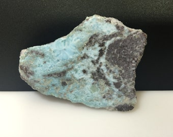 39g Rough Dominican Larimar 2.5 inches Length & 1.5 inches in Width