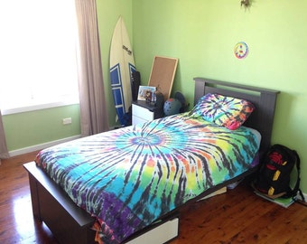 Custom Made Tie Dye Single Quilt/Doona Cover Sets