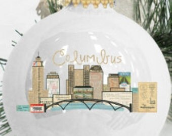 Ornament Columbus Skyline