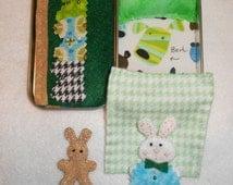 Altoid tin road trip boy bunnies, travel, stuffed animal, bedtime, bunny, felt, church or purse, quiet time, sleepover, Valentine's, Easter