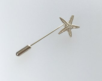 Sterling silver starfish pin
