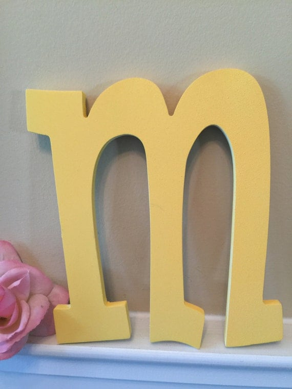 Lowercase Letters Wall Decor : Letters lowercase monogram shabby chic wall