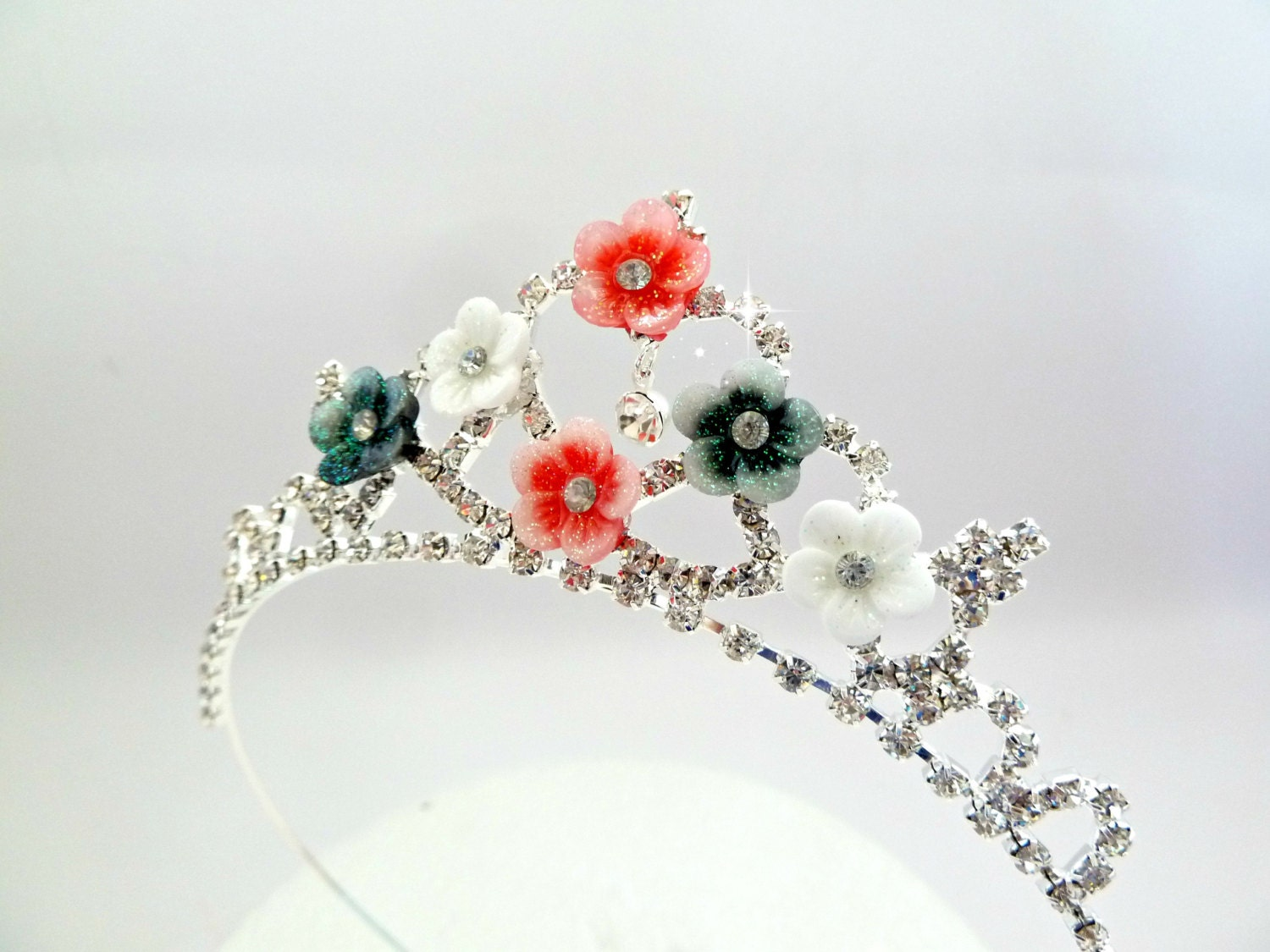 Flowers Tiaraflower Crownwedding Flower Girls Tiaraflower