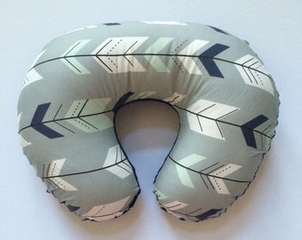Boppy Cover - Fletching Arrows with Grey and Navy