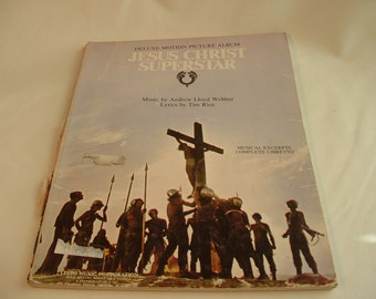 Jusus Christ Superstar by Andrew Lloyd Webber songbook.  Musical excerpts, complete Libretto.  1970s