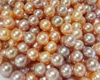 Edison 8mm to 14mm Pearls, natural pink and peach colors (115)