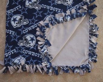 Dallas Cowboys Fleece Tie Blanket