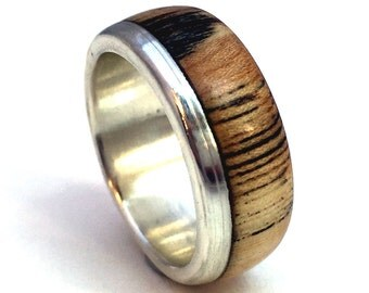 Mens Ring, Wooden ring, Mens wood ring, Womens wood ring, spalted elm, wood wedding band, wood jewelry, wood wedding ring,wood anniversary