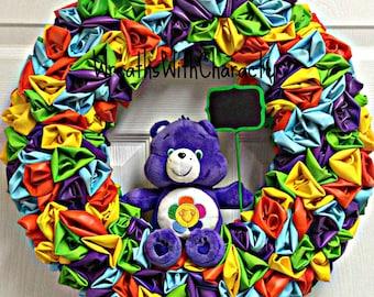 "Care Bear - Harmony Bear 16"" Balloon Party Wreath"