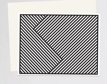 Black & White (zebra) print Greeting Card