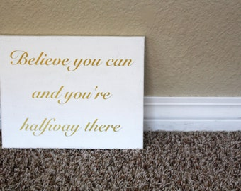 Believe You Can Quote Canvas