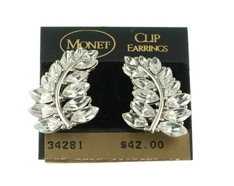 Monet Leaf Climber Earrings