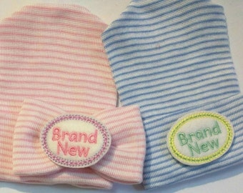 Newborn Hospital Hats for Twins! You will get 2 hats One for Boy and One for Girl. Perfect if you don't know gender! Take both to Hospital