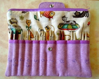 Needle Case interchangeable systems, Needle Holder, Needle Wallet, Circular Needle Organizer