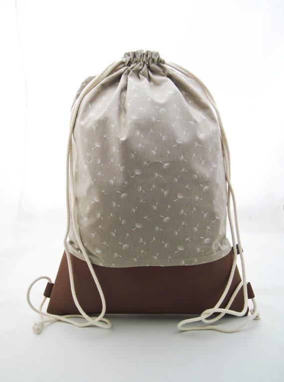 turnbeutel beutel rucksack mit futter und innentasche. Black Bedroom Furniture Sets. Home Design Ideas