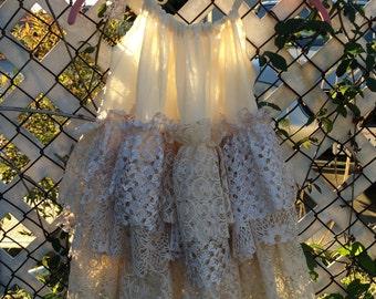Upcycle vintage ruffle dress