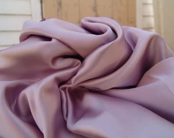 Mauve fabric charmeuse poly vintage lining pillow