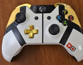 Custom Painted Overwatch Mercy Xbox One Wireless Controller 1697 3.5mm